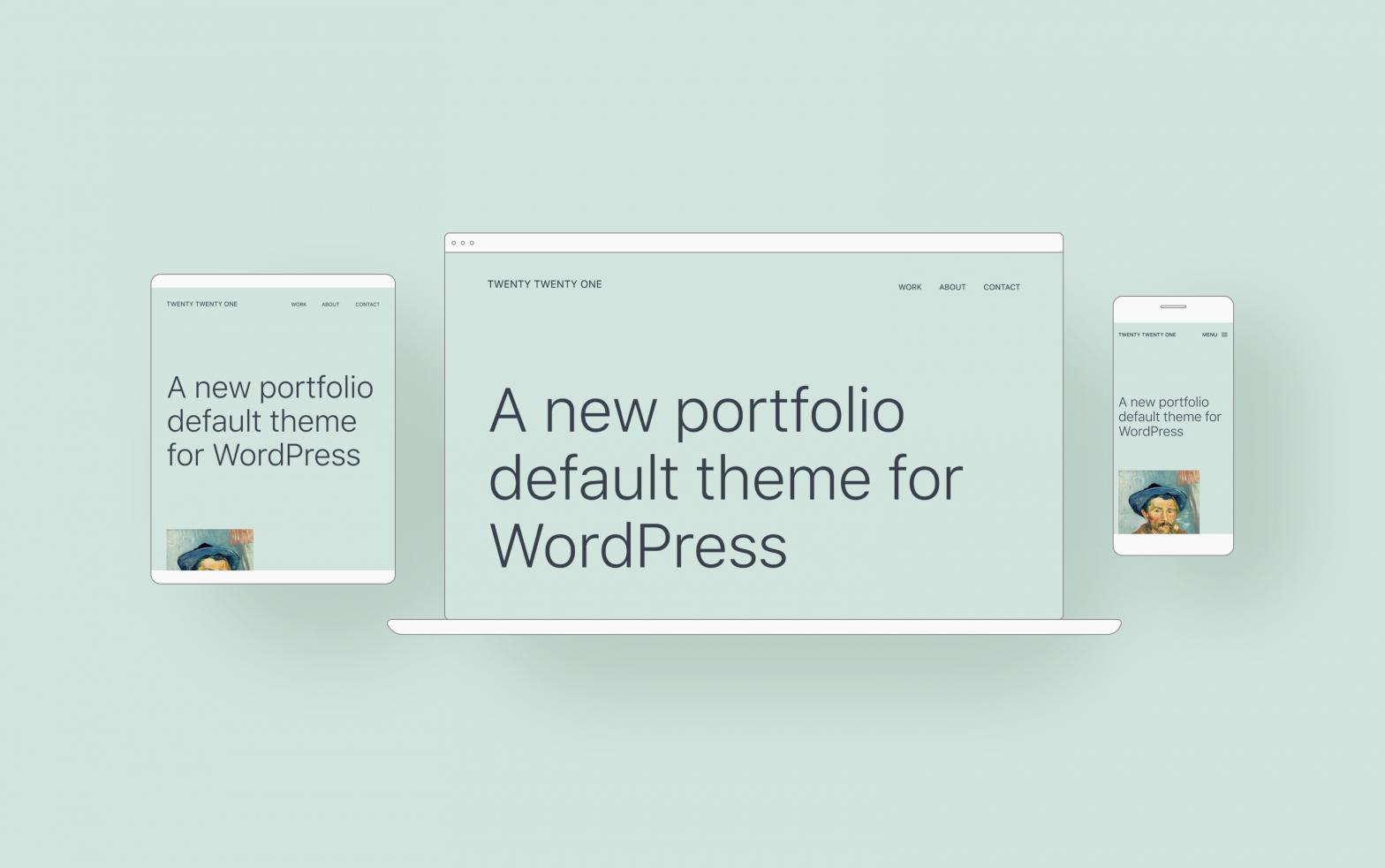 Device Mockups of the new WordPress default theme Twenty-Twenty-One