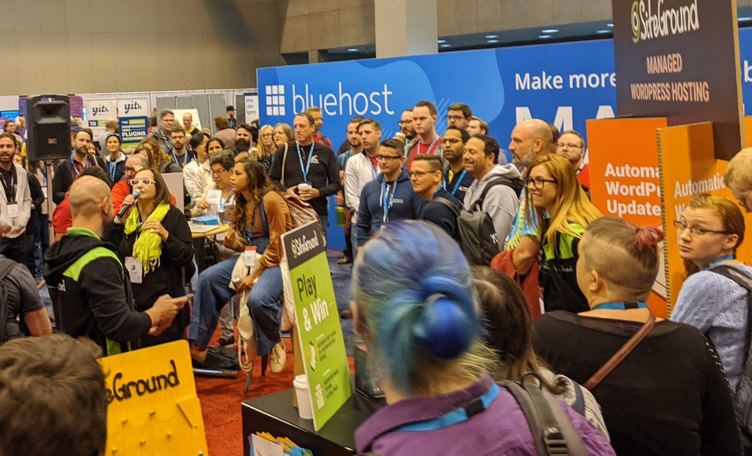 WordCamp US 2019 - SiteGround Booth Sponsor hall